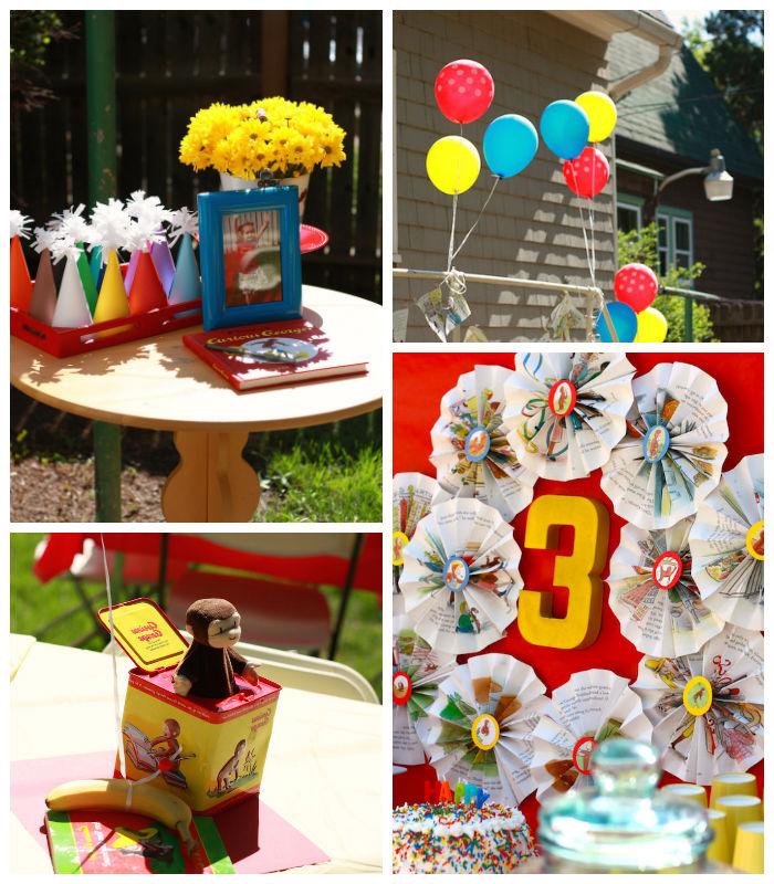 Kara S Party Ideas Curious George Themed Birthday Party