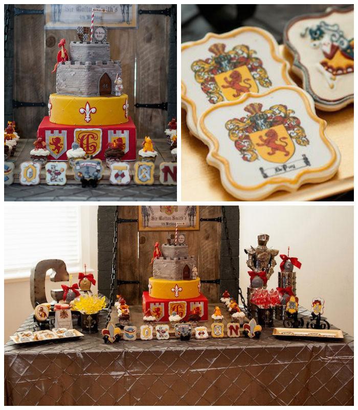 Kara S Party Ideas Knight And Dragon Themed Birthday Party