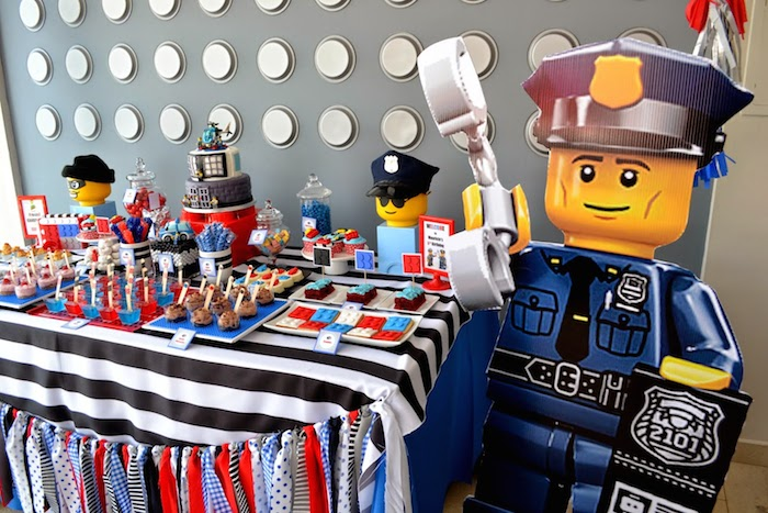 Karas Party Ideas Lego City Police themed birthday party via – Lego City Birthday Invitations