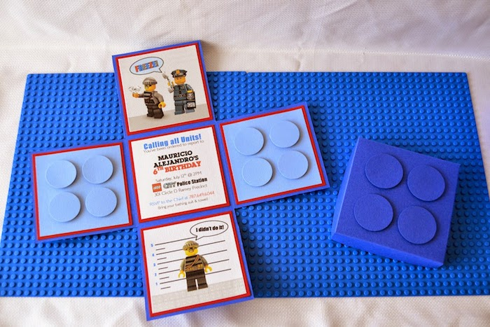 lego6 kara's party ideas lego city police themed birthday party via,Lego Party Invitation Ideas