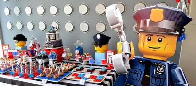 Lego City Police themed birthday party via Kara's Party Ideas KarasPartyIdeas.com Cake, decor, printables, invitation, favors, stationery, and more! #lego #legoparty #policeparty #legocity #karaspartyideas (1)