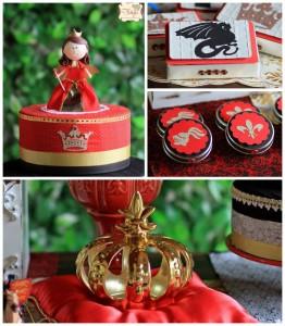 Medieval Times Princess themed birthday party via Kara's Party Ideas KarasPartyIdeas.com Cake, decor, printables, invitation, favors, desserts, and more! #knightparty #dragonparty #medievaltimesparty (2)