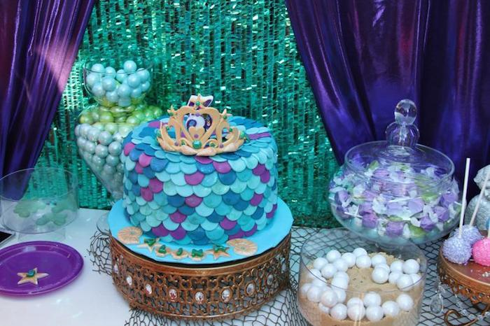 Kara 39 s party ideas little mermaid themed birthday party for Ariel decoration ideas