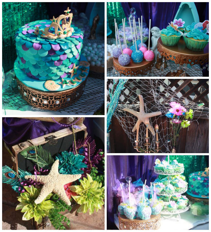 Kara 39 s party ideas little mermaid themed birthday party for Ariel party decoration ideas