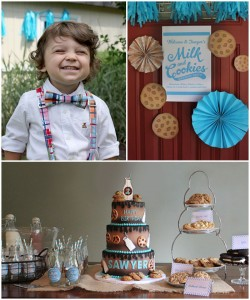 Cookies and Milk themed birthday party via KarasPartyIdeas KarasPartyIdeas.com Printables, cake, decor, cupcakes, favors, and more! #milkandcookies #cookiesanmilkparty #karaspartyideas (2)