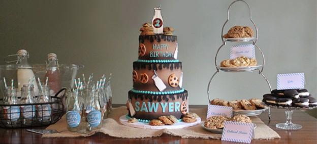 Cookies and Milk themed birthday party via KarasPartyIdeas KarasPartyIdeas.com Printables, cake, decor, cupcakes, favors, and more! #milkandcookies #cookiesanmilkparty #karaspartyideas (1)