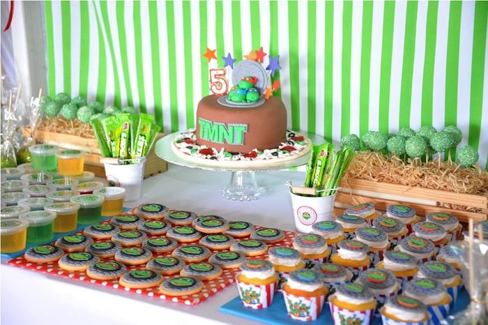 Karas Party Ideas Ninja Turtle themed birthday party via Karas – Ninja Turtle Birthday Invitations Printable
