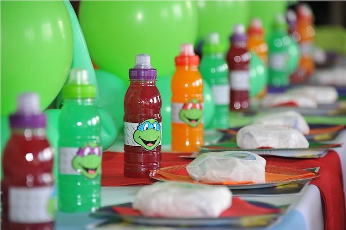 Karas Party Ideas Ninja Turtle themed birthday party via Karas – Ninja Turtle Birthday Party Invitations