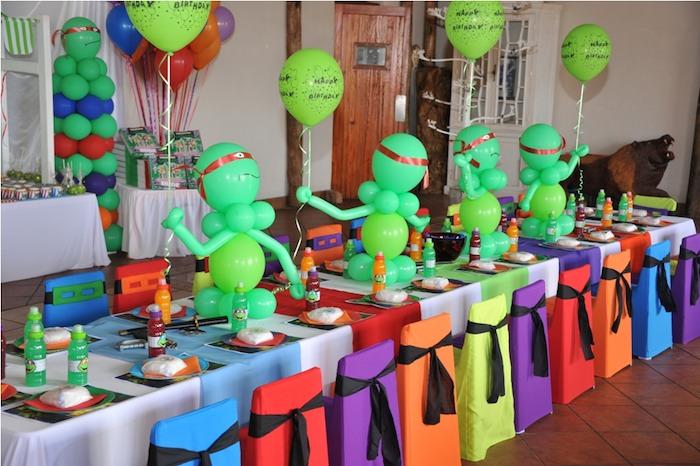 Karas Party Ideas Ninja Turtle themed birthday party via Karas