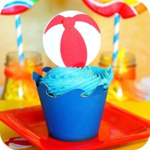 Olaf's Summer Bash + Frozen themed birthday party via Kara's Party Ideas KarasPartyIdeas.com Printables, cake, invitation, decor, supplies, games, etc! #olafparty #frozenparty #frozen #disneysfrozen #summerbash #beachparty (11)