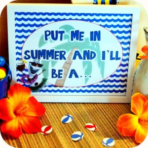 Olaf's Summer Bash + Frozen themed birthday party via Kara's Party Ideas KarasPartyIdeas.com Printables, cake, invitation, decor, supplies, games, etc! #olafparty #frozenparty #frozen #disneysfrozen #summerbash #beachparty (5)