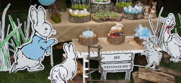 Peter Rabbit themed 1st birthday party via Kara's Party Ideas KarasPartyIdeas.com Printables, tutorials, cake, decor, cupcakes, recipes, favors, etc! #peterrabbit #peterrabbitparty #beatrixpotter (2)
