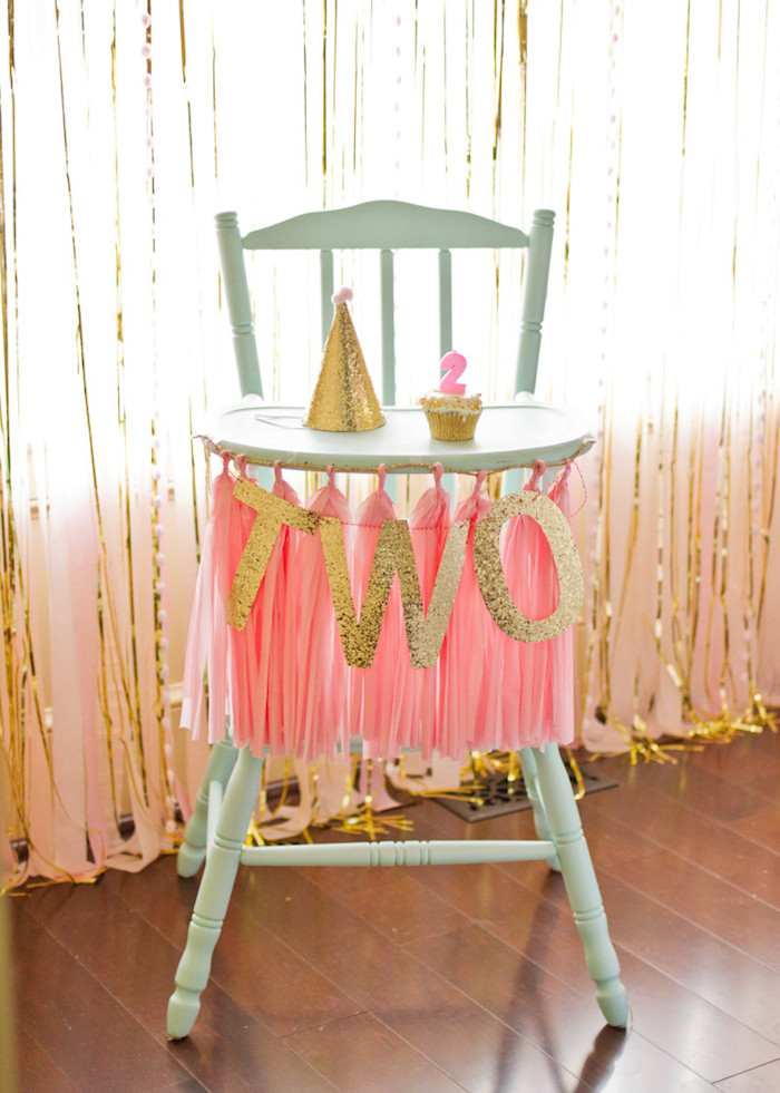 Pink And Gold 2nd Birthday Party Via Karas Ideas KarasPartyIdeas Pritables Cake