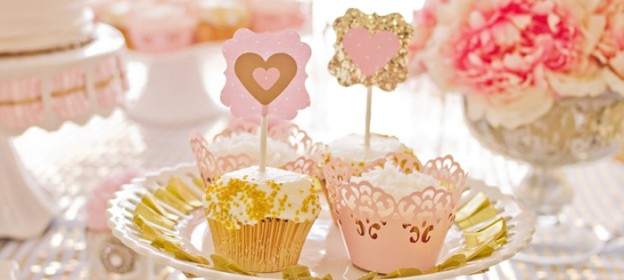 Pink and Gold 2nd birthday party via Kara's Party Ideas KarasPartyIdeas.com Pritables, cake, decor, cupcakes, tutorials, stationery, recipes, and more! #glitterparty #girlparty #pinkandgold #secondbirthdayparty (1)