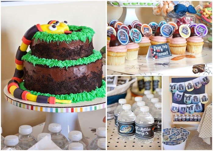 Kara's Party Ideas Reptile themed birthday party via Kara ...