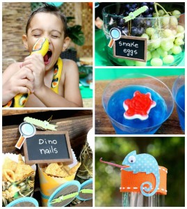 Reptile + Scientist themed birthday party via Kara's Party Ideas KarasPartyIdeas.com Cake, decor, invitation, desserts, printables, favors, and more! #reptileparty #scientistparty (2)
