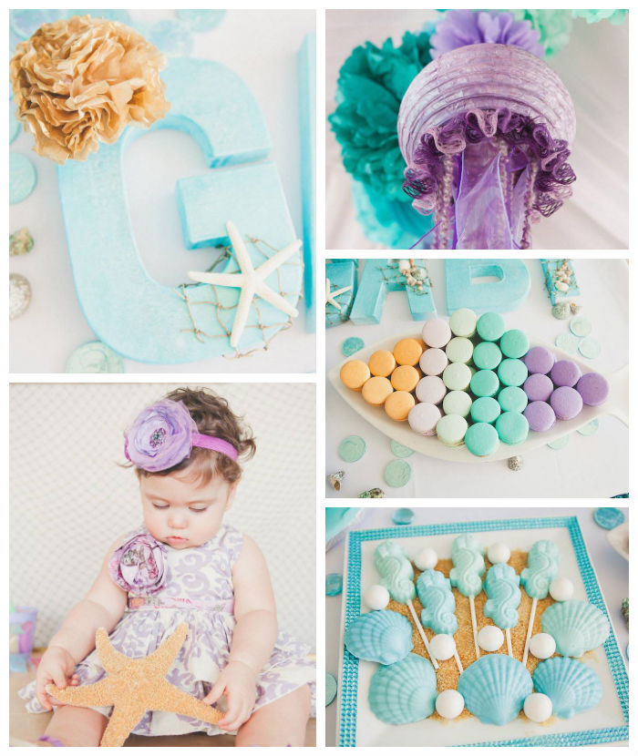 Kara's Party Ideas » Adorable Under The Sea 1st Birthday