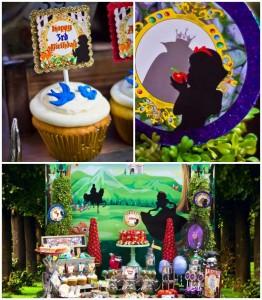 Snow White themed birthday party via Kara's Party Ideas KarasPartyIdeas.com Cake, cupcakes, invitation, supplies, games, and more! #snowwhite #snowwhiteparty #karaspartyideas (1)