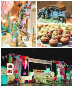 Vintage Toy Land 1st birthday party via Kara's Party Ideas KarasPartyIdeas.com Cake, decor, supplies, cupcakes, recipes, favors, games, and more! #vintagetoy #toylandparty (1)