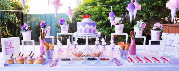 Gelatissimo themed birthday party via Kara's Party Ideas KarasPartyIdeas.com Cake, printables, favors, cupcakes, supplies, recipes, and more! #gelatissimo #gelatissimoparty #icecreamparty #icecream #karaspartyideas (1)