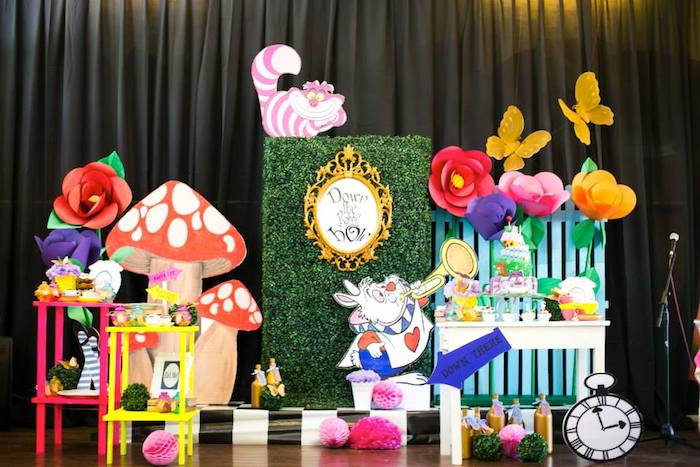 Kara 39 s party ideas alice in wonderland 1st birthday - Alice in the wonderland party decorations ...