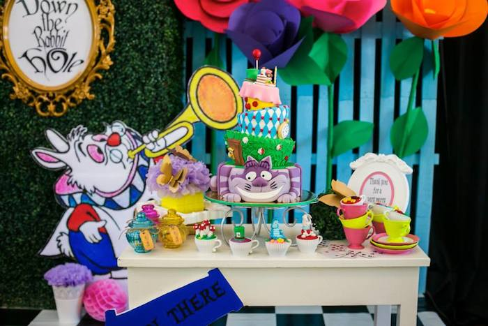 Kara 39 s party ideas alice in wonderland 1st birthday party for Alice in wonderland birthday decoration ideas