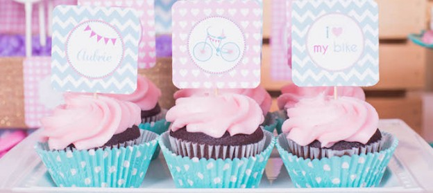 Bicycle themed birthday party via Kara's Party Ideas KarasPartyIdeas.con Printables, cake, decor, invitation, tutorials, favors, and more! #bicycleparty #bikeparty #birthdaybike #girlypartyideas #karaspartyideas (1)
