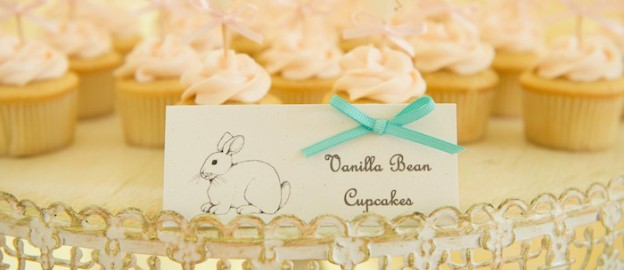 Vintage Bunny themed baby shower via Kara's Party Ideas KarasPartyIdeas.com Decor, printables, invitation, desserts, food, and more! #vintagebunny #bunnybabyshower #girlbabyshower (2)