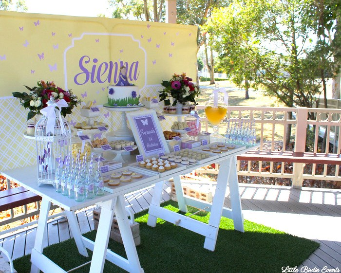 Karas Party Ideas Purple Butterfly Garden Birthday Party
