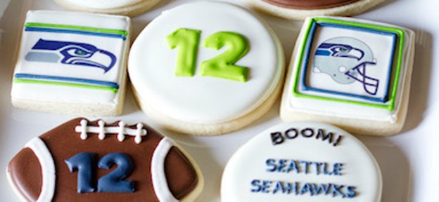 Football themed 12th birthday party via Kara's Party Ideas KarasPartyIdeas.com Cake, favors. cupcakes, tutorials, invitation, and more! #football #footballparty #tweenboy #teenboyparty #superbowlparty #superbowl (2)