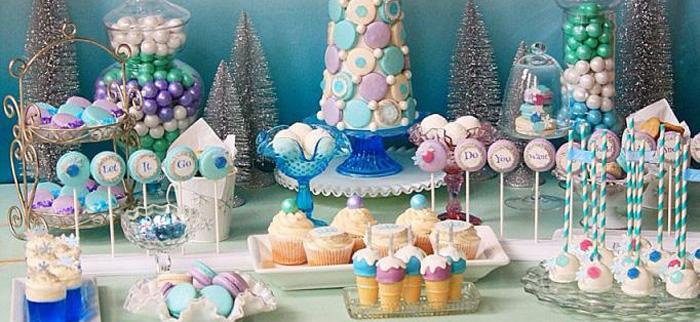 Kara S Party Ideas Frozen Themed Dessert Buffet