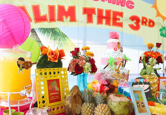 Hawaiian Luau Baby Shower Via Karau0027s Party Ideas KarasPartyIdeas.com Cake,  Decor, Supplies