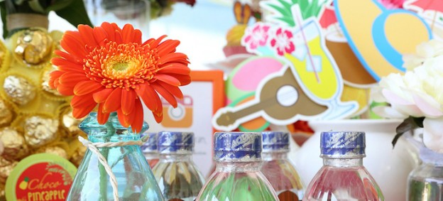 Hawaiian Luau baby shower via Kara's Party Ideas KarasPartyIdeas.com Cake, decor, supplies, food, favors, and more! #luau #luauparty #hawaiianluau (2)