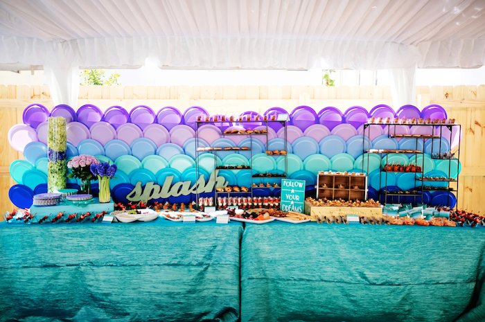 Kara S Party Ideas Splish Splash Mermaid Bash Birthday