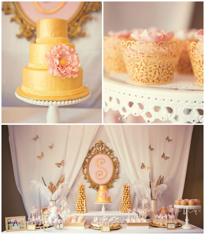 Pink And Gold Baby Shower Via Kara S Party Ideas Karaspartyideas Cake Banner
