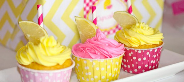 Pink Lemonade themed birthday party via Kara's Party Ideas KarasPartyIdeas.com Printables, invitation, cake, decor, favors, cupcakes, recipes, and more! #pinklemonade #lemonade #lemonadeparty #pinkandyellow #girlyparty (1)