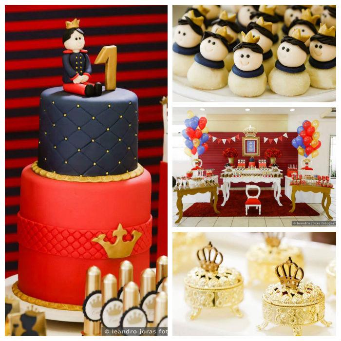 Kara S Party Ideas Royal Princess First Birthday Party: Kara's Party Ideas » Royal Prince 1st Birthday Party Via