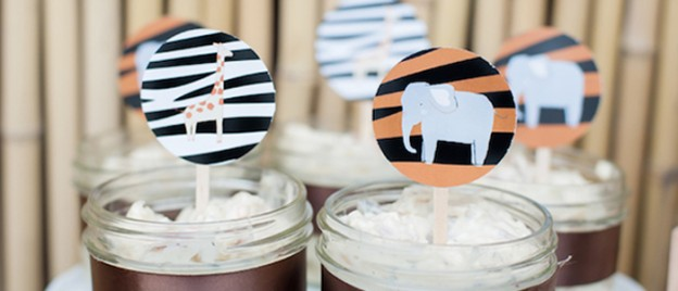 Gold Toned Jungle Safari themed birthday party via Kara's Party Ideas KarasPartyIdeas.com Cake, supplies, favors, cupcakes, banners, invitation, and more! #safari #jungle #junglesafariparty #zooanimals #safariparty (1)