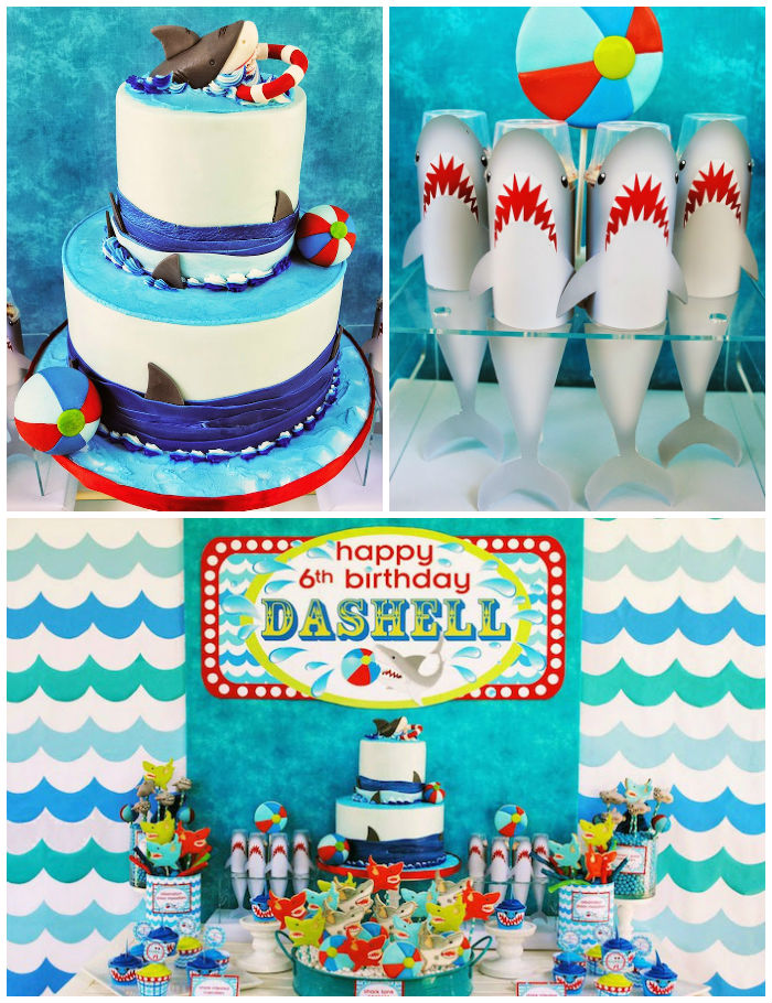 Shark Mermaid Cake
