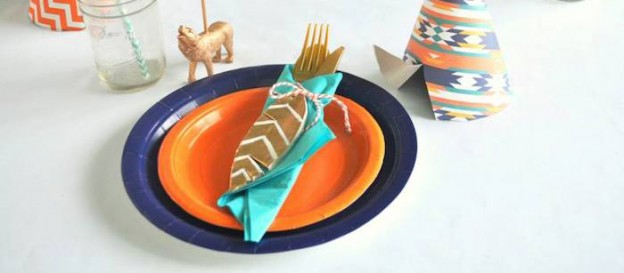 Tribal + Camping themed birthday party via Kara's Party Ideas KarasPartyIdeas.com Invitation, supplies, cake, desserts, tutorials, and more! #tribalparty #nativeamerican #campingparty #aztecparty #karaspartyideas (1)