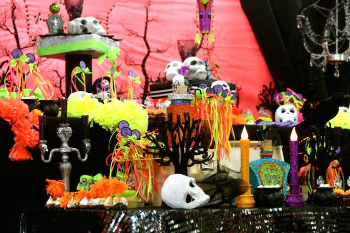 day of the dead halloween party via karaspartyideascom halloween dayofthedead diadelosmuertos