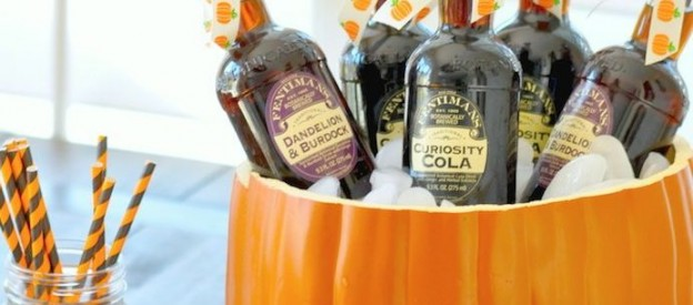 Halloween pumpkin punch + drink bowl! Via Kara's Party Ideas #Grumpkin