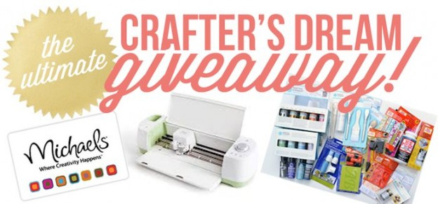 Ultimate crafters dream giveaway! Cricut machine, craft products and Michaels gift card!