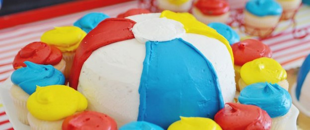 Beach Ball themed birthday party via Kara's Party Ideas KarasPartyIdeas.com Cake, decor, supplies, cupcakes, banners, tutorials and more! #beachballparty #beachball (1)
