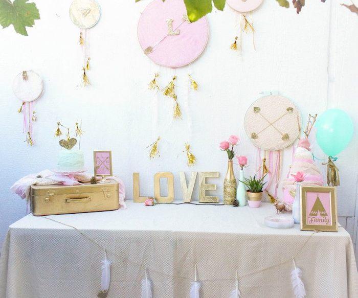 Karas Party Ideas Bohemian Bridal Baby Shower via Karas Party
