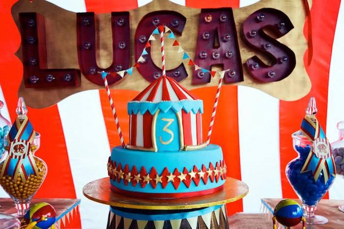Karas Party Ideas Vintage Circus Birthday Party