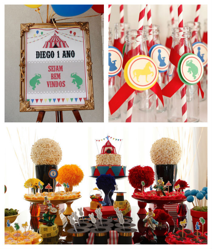 Greatest Showman Inspired Circus themed birthday party via Kara's Party Ideas KarasPartyIdeas.com Cake, supplies, printables, food, and more! #circus #circusparty #circuspartyideas (1)