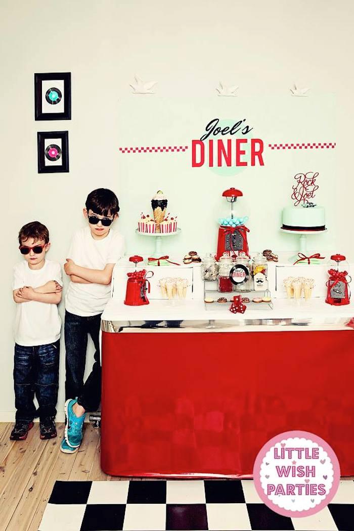 1950s Diner Rock N Roll Themed Birthday Party Via Karas Ideas KarasPartyIdeas