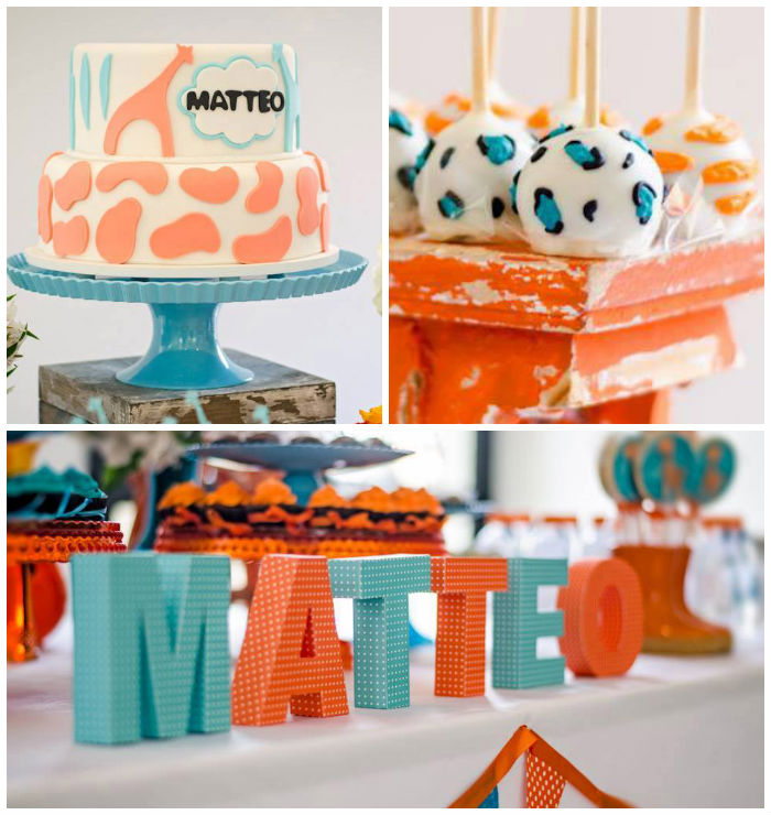 giraffe themed baby shower via kara 39 s party ideas