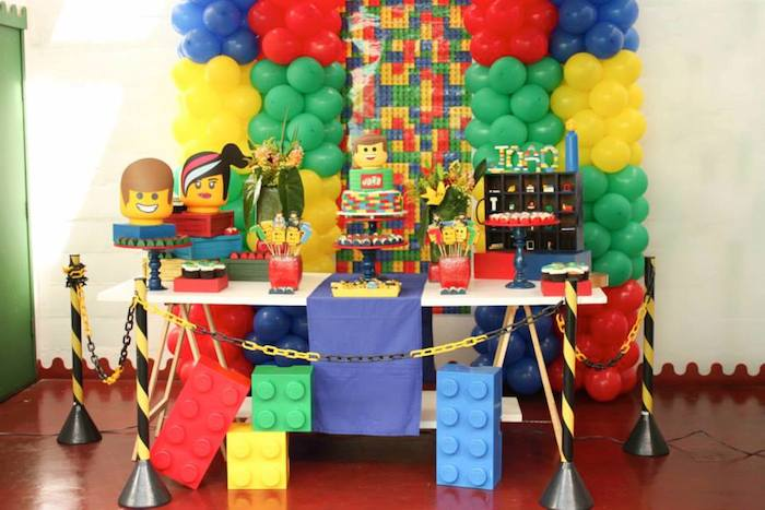 Lego Movie Birthday Party Via Karas Ideas KarasPartyIdeas Cake Banners Decor